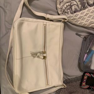 White fossil crossbody